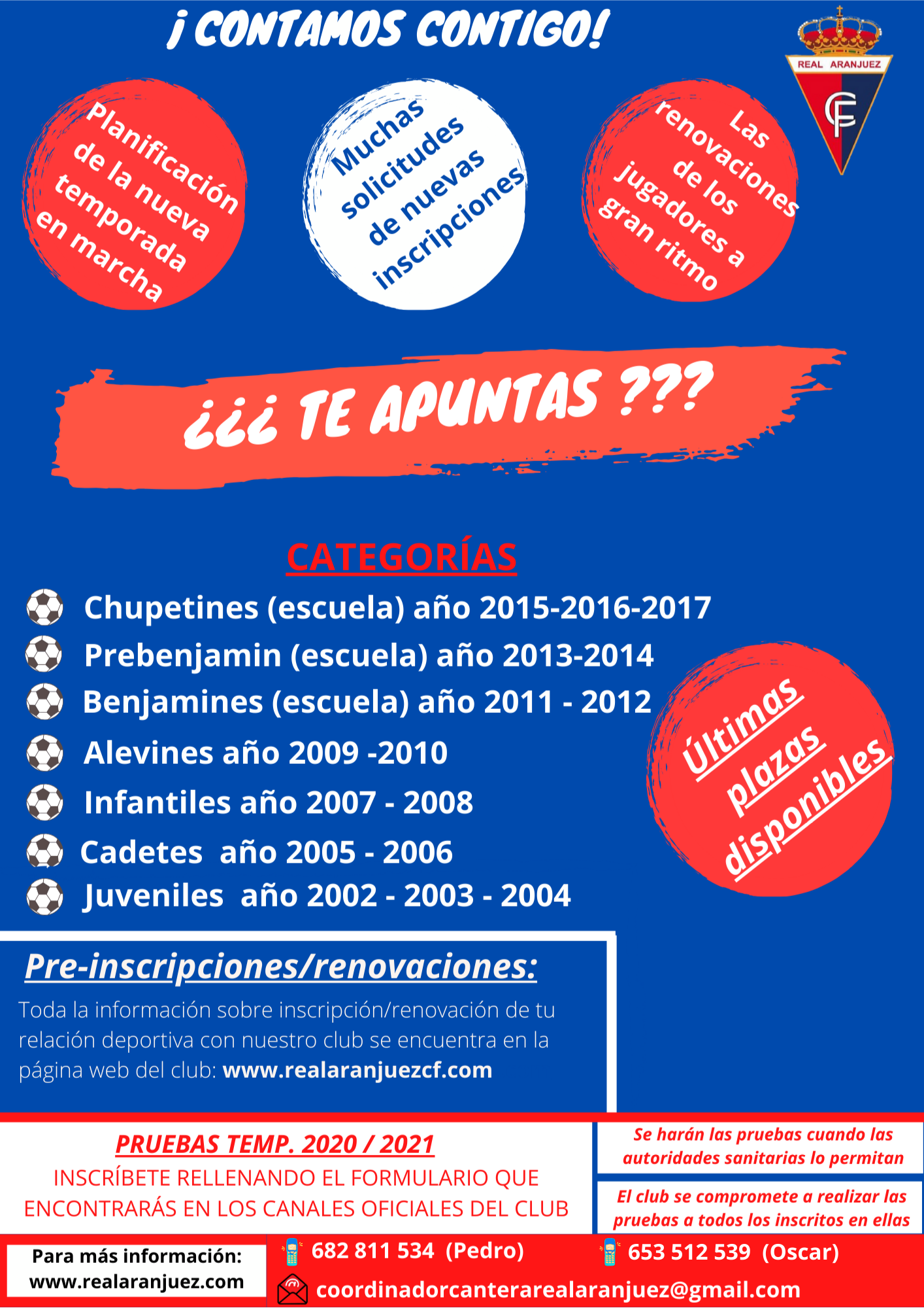 CARTEL DE CANTERA RECORDATORIO