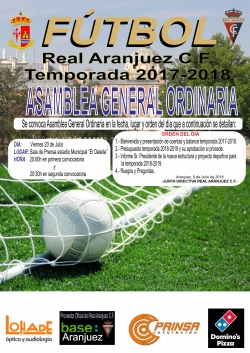 ASAMBLEA ORDINARIA REAL ARANJUEZ 20 JULIO